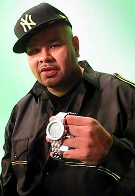 Fat Joe with a diamond watch From ItsHot.com