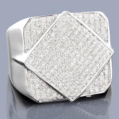 10K Gold Mens Diamond Ring 0.75ct