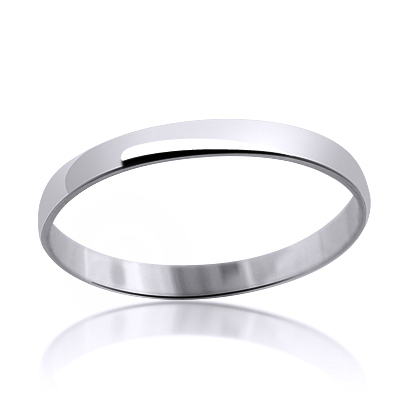 Ultra Thin 14K Gold Classic Mens Womens Wedding Band 2mm