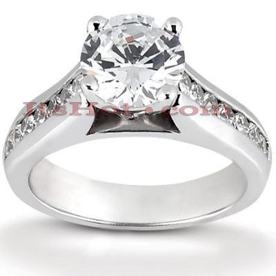 14K Gold Designer Diamond Engagement Ring 0.68ct