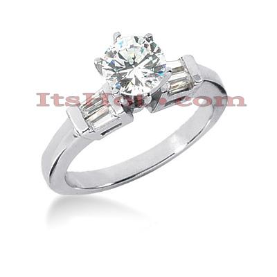 14K Gold Designer Diamond Engagement Ring 0.78ct