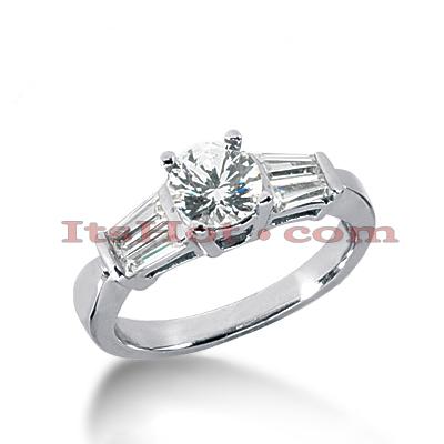 14K Gold Designer Diamond Engagement Ring 1.31ct