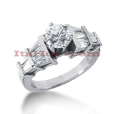 14K Gold Designer Diamond Engagement Ring 1.50ct