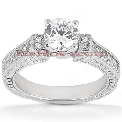14K Gold Diamond Designer Engagement Ring 0.83ct