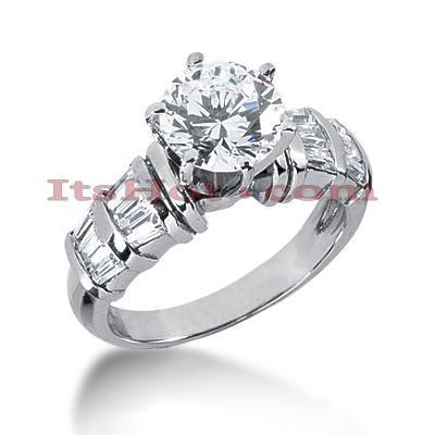 14K Gold Diamond Designer Engagement Ring 1.18ct