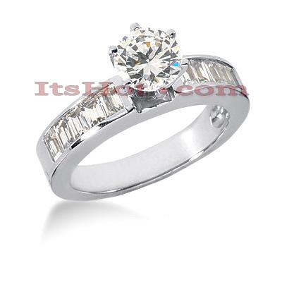 14K Gold Diamond Designer Engagement Ring 1.30ct