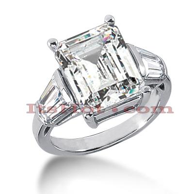 14K Gold Diamond Designer Engagement Ring 6.12ct