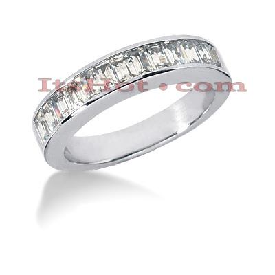 14K Gold Diamond Designer Engagement Ring Band 1.04ct