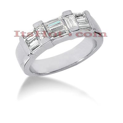 14K Gold Diamond Designer Engagement Ring Band 1.26ct