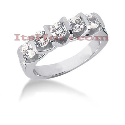 Thin 14K Gold Diamond Designer Engagement Ring Band 1ct