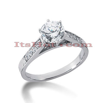 14K Gold Diamond Engagement Ring 0.66ct