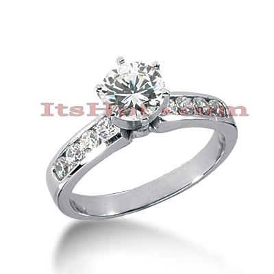 14K Gold Diamond Engagement Ring 0.90ct