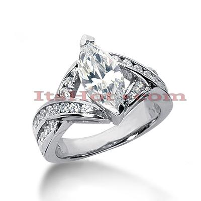 14K Gold Diamond Engagement Ring 2.61ct