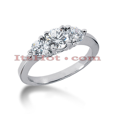 Ultra Thin 14K Gold Diamond Engagement Ring Mounting 0.20ct
