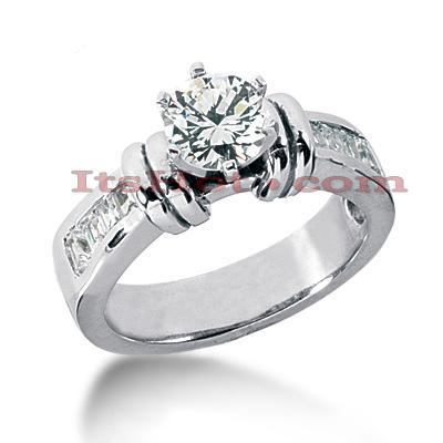 14K Gold Diamond Engagement Ring Mounting 0.46ct