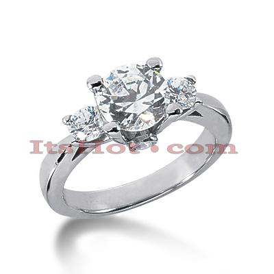 14K Gold Diamond Engagement Ring Mounting 0.60ct