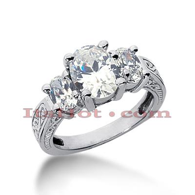 14K Gold Diamond Engagement Ring Mounting 0.76ct