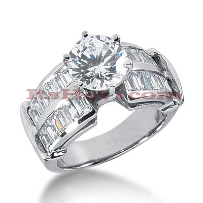 14K Gold Diamond Engagement Ring Mounting 1.60ct