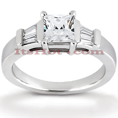 14K Gold Diamond Engagement Ring Setting 0.16ct