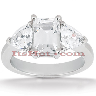 14K Gold Diamond Engagement Ring Setting 0.40ct