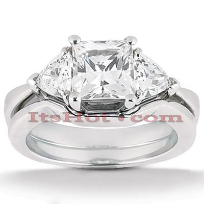 14K Gold Diamond Engagement Setting Set 0.30ct