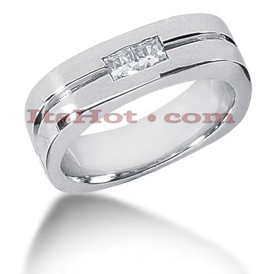 14K Gold Diamond Men's Wedding Ring 0.34ct