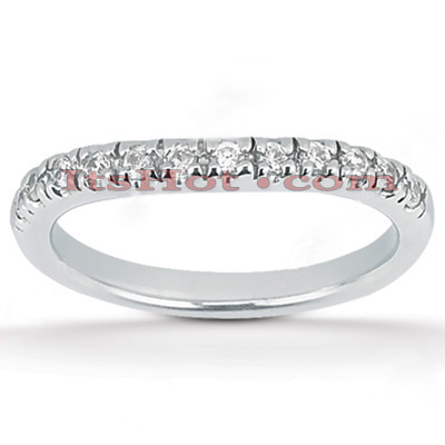 Thin 14K Gold Diamond Unique Engagement Band 0.28ct