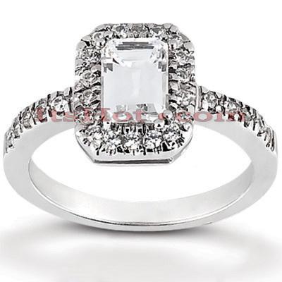 14K Gold Diamond Unique Engagement Ring 0.49ct