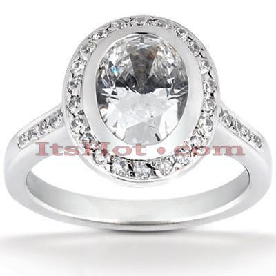 14K Gold Diamond Unique Engagement Ring 0.79ct