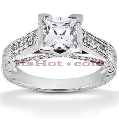 14K Gold Diamond Unique Engagement Ring 0.99ct