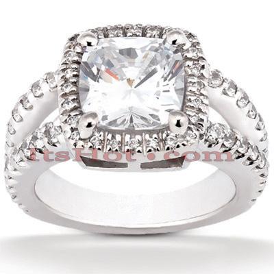 14K Gold Diamond Unique Engagement Ring 1.44ct