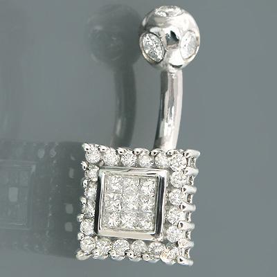 14K Gold Diamond Wholesale Body Jewelry Piece 0.47ct