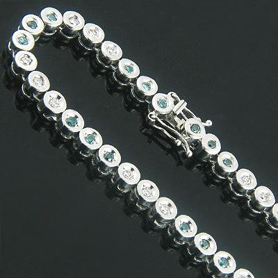 14K Gold Fancy Color Blue Diamond Necklace Chain 8.82ct