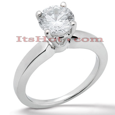 14K Gold Four-Prong Solitaire Engagement Ring 0.40ct