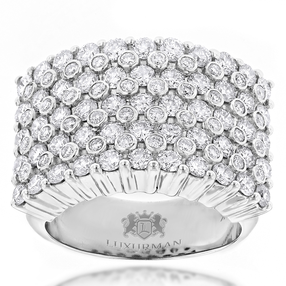 Unique 14K Gold Mens Diamond Rings Collection Piece by Luxurman 3.5ct