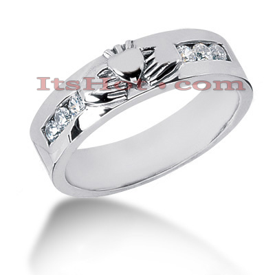 14K Gold Men's Diamond Wedding Band 0.30ct