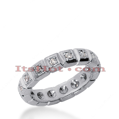 14K Gold Round Diamond Eternity Band 0.32ct