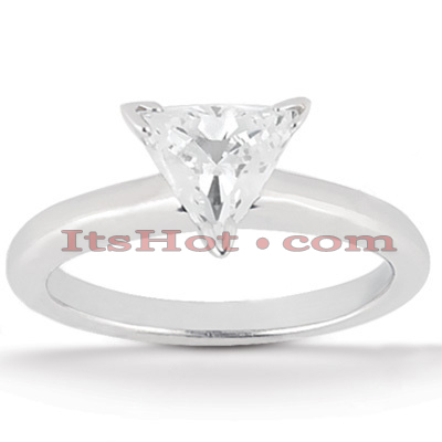 14K Gold Three-Prong Engagement Ring Mounting