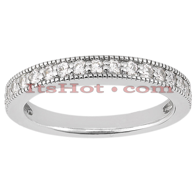 Thin 14K Gold Unique Diamond Engagement Band 0.23ct