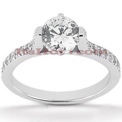 14K Gold Unique Diamond Engagement Ring 0.72ct