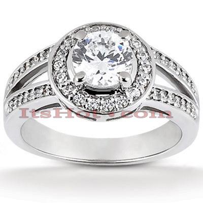 14K Gold Unique Diamond Engagement Ring 0.83ct