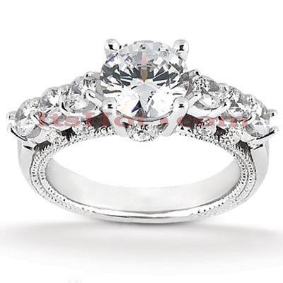 14K Gold Unique Diamond Engagement Ring 0.93ct