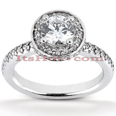 14K Gold Unique Diamond Engagement Ring 1.11ct