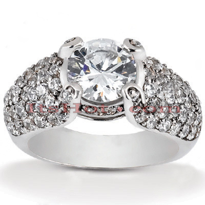 14K Gold Unique Diamond Engagement Ring 1.54ct