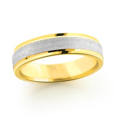 14K Gold Urbane Wedding Band for Men 5mm