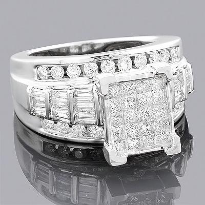 14K Pre Set Diamond Engagement Ring 2.36ct