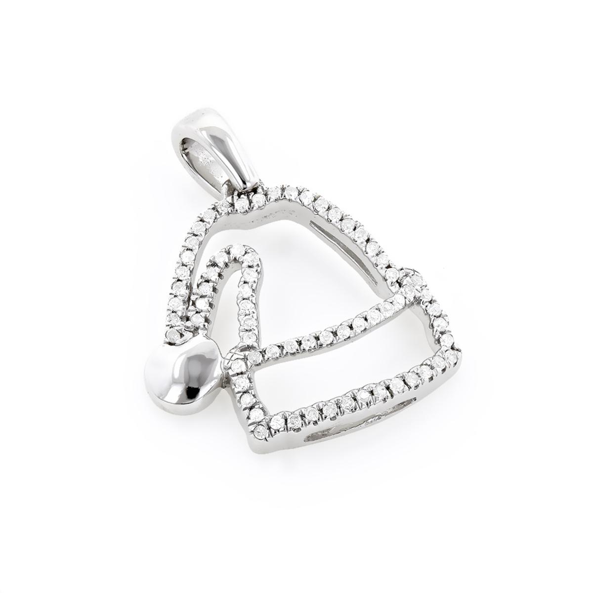 Mini Diamond Pendants: Diamond Santa Hat Charm 10K 0.13ct