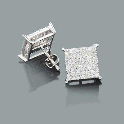 Affordable Diamond Earrings 0.37ct 10K Gold