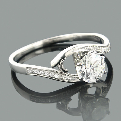 Affordable Engagement Rings 14K Gold Diamond Ring .34ct