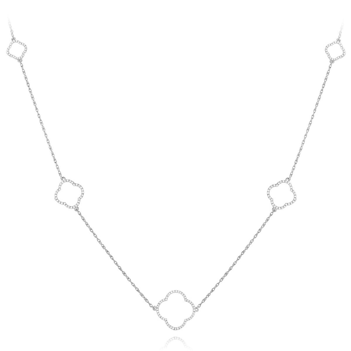 Alhambra Jewelry 14K Gold Ladies Diamond Necklace 1/3ct